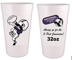 NATB FOOTBALL 32OZ PLASTIC CUP