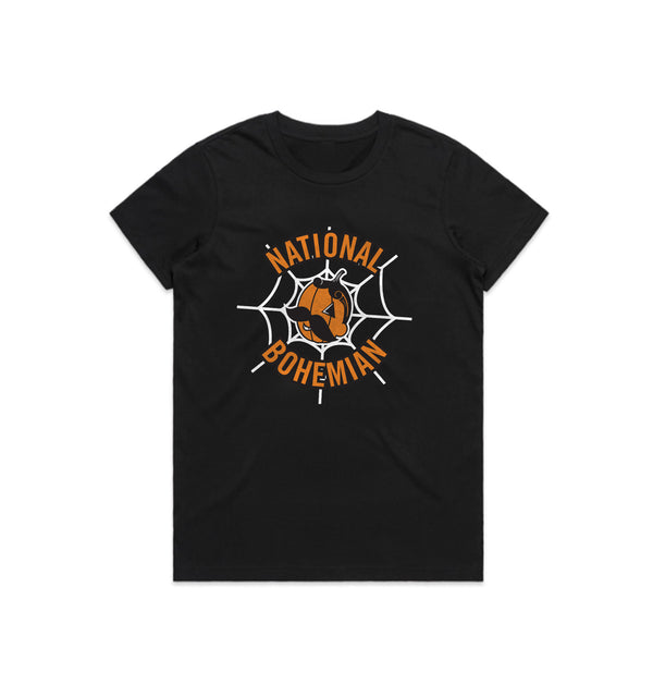 PUMPKIN BOH WOMEN'S TEE - BLACK