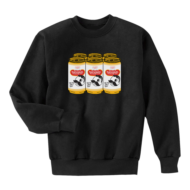 6 Pack Crewneck - BLACK