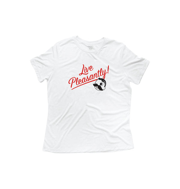 Women's Live Pleasantly SS Tee - White