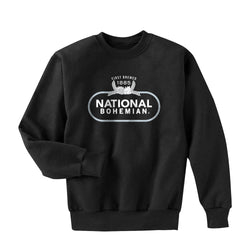 BLACK AND SILVER CREWNECK SWEATER
