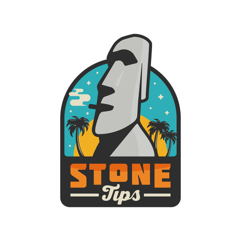 stone tip ceramic rolling crutch sticker