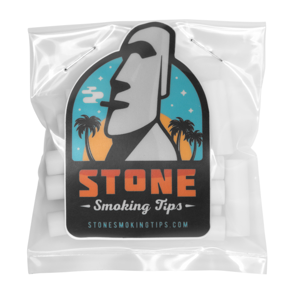 stone smoking tip ceramic joint filter crutch