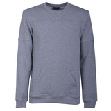 Grey External Seams Swetshirt