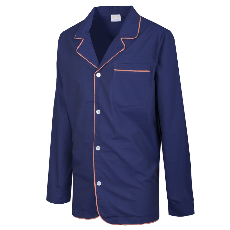 Dark Blue Orange Piping Pyjamas - kloters