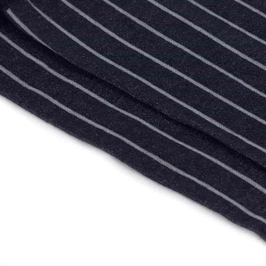 Blue Royal Pinstriped Grey Ribbed Cotton Socks - kloters