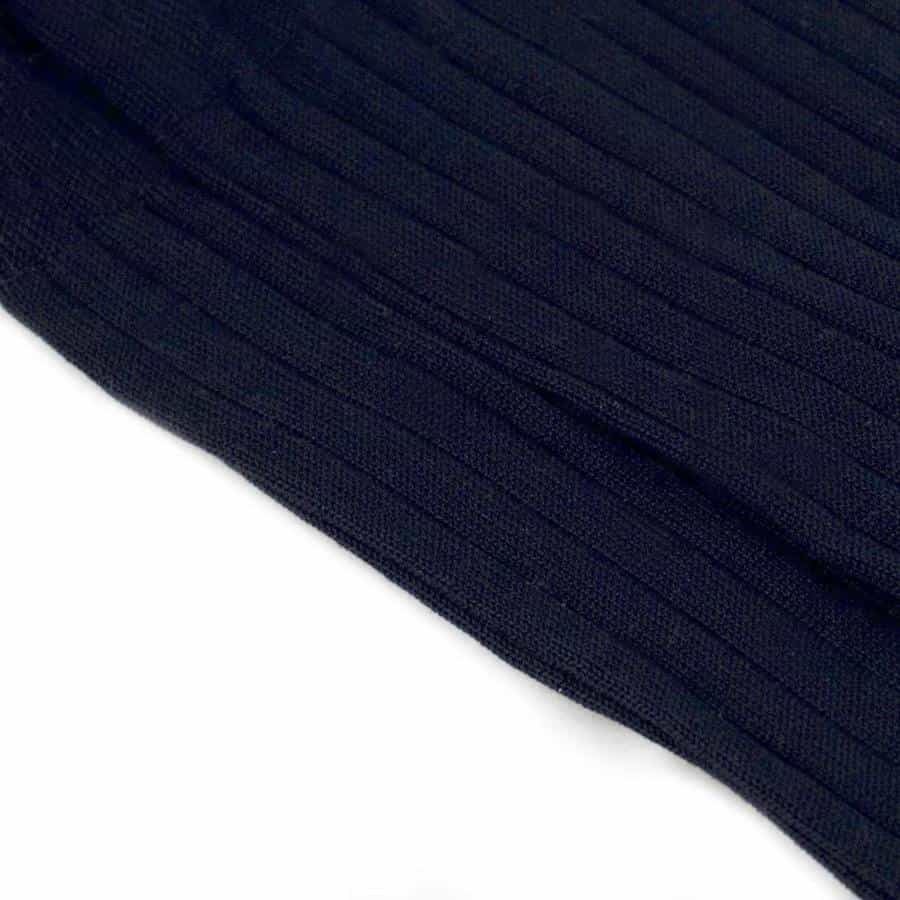 Dark Blue Ribbed Cotton Socks - kloters