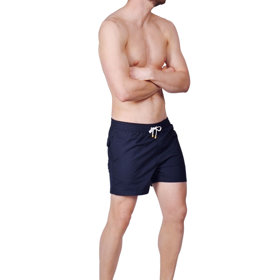 Dark Blue Swim Shorts - kloters