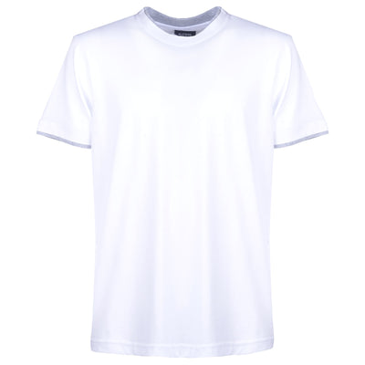 Double Crew-Neck White T-shirt - kloters