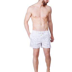 Grey Tile Swim Shorts - kloters