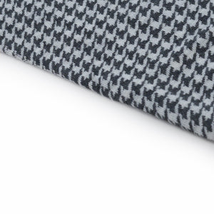Pearl Grey Houndstooth Socks - kloters