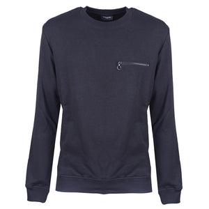 Black Sweatshirt with Zip - kloters