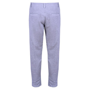 Grey Cotton Trousers with Fixed Waist - kloters