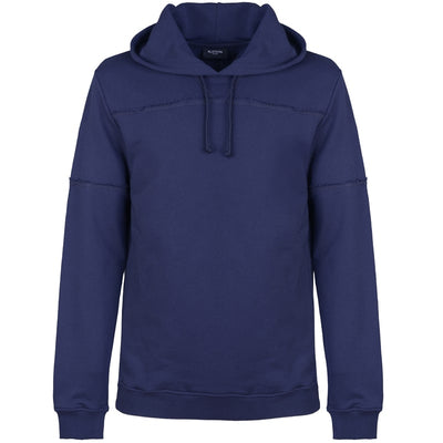 Blue External Seams Sweatshirt with Hood - kloters