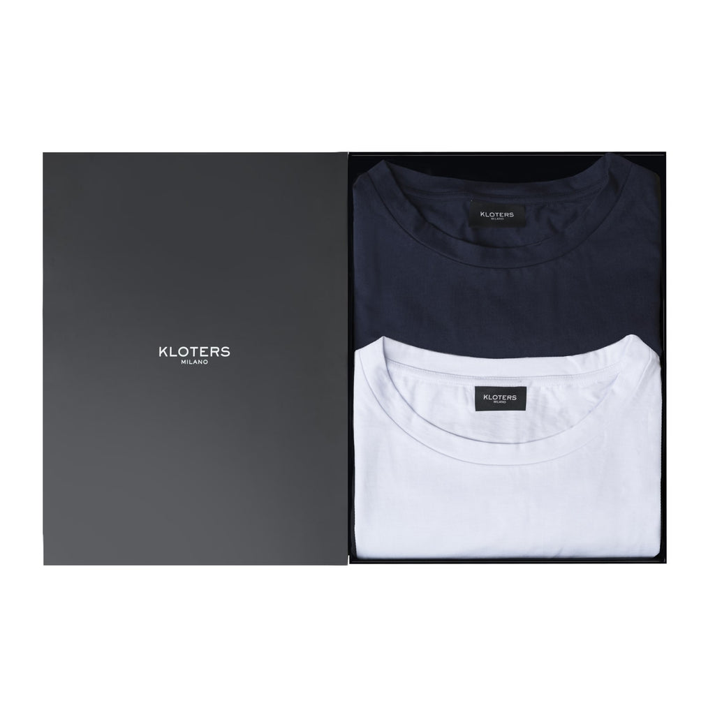 T-shirt Pack: White & Blue - kloters