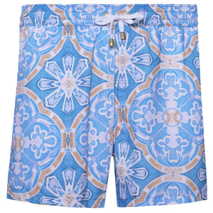 Blue Tile Swim Shorts - kloters