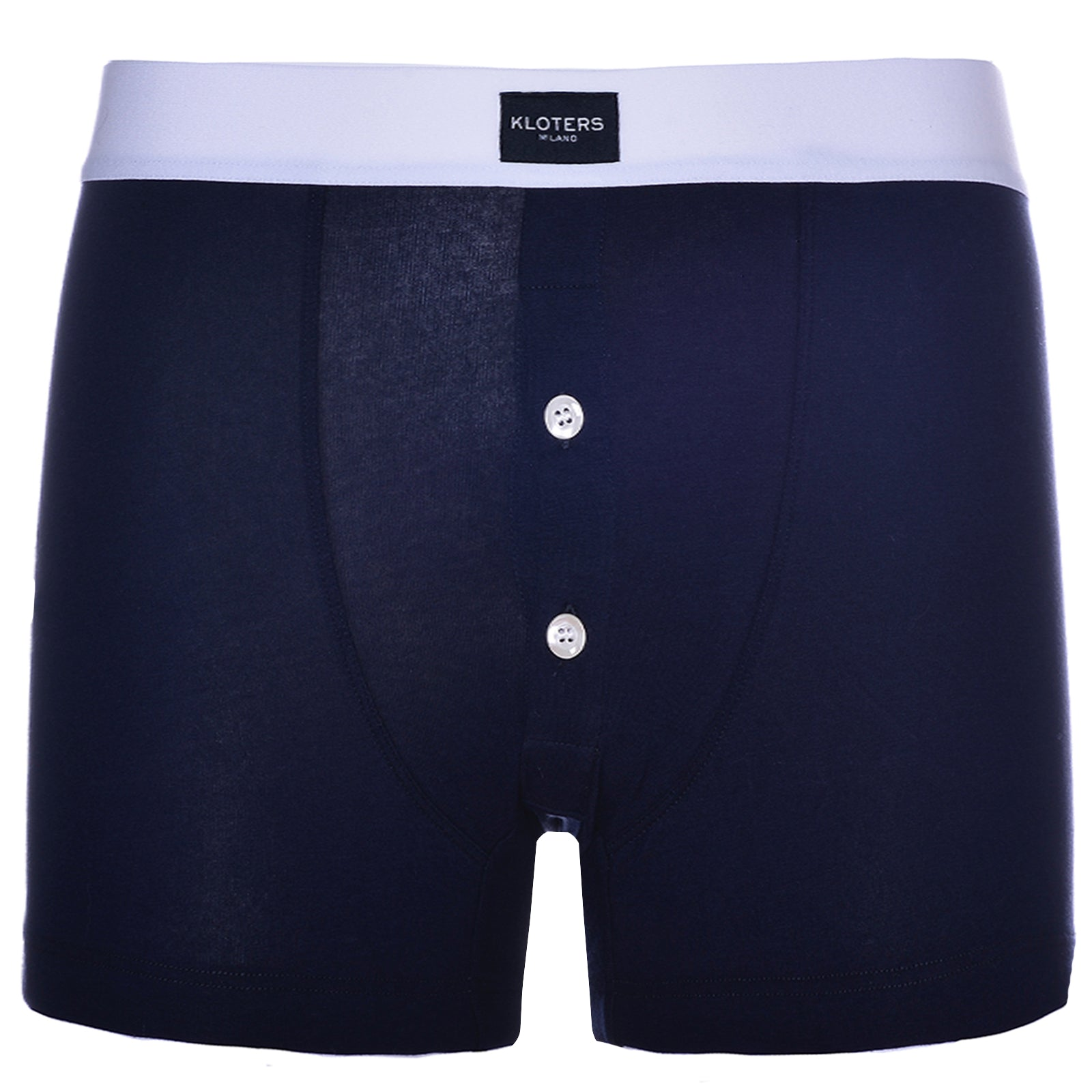 Boxer Briefs - Blue Boxer Briefs With Buttons
