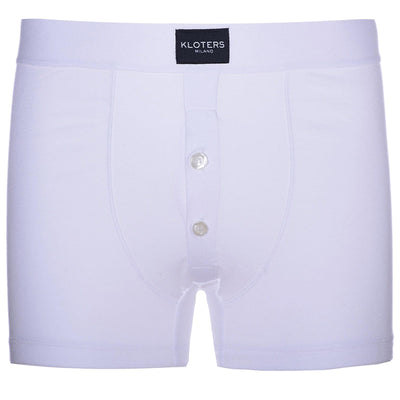 Boxer Briefs - White Boxer Briefs With Buttons