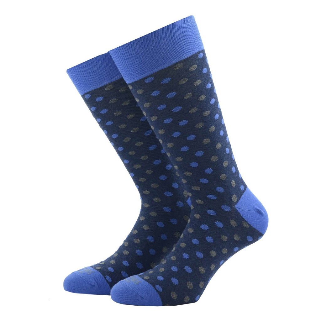 Blue Polka Dots Socks - kloters