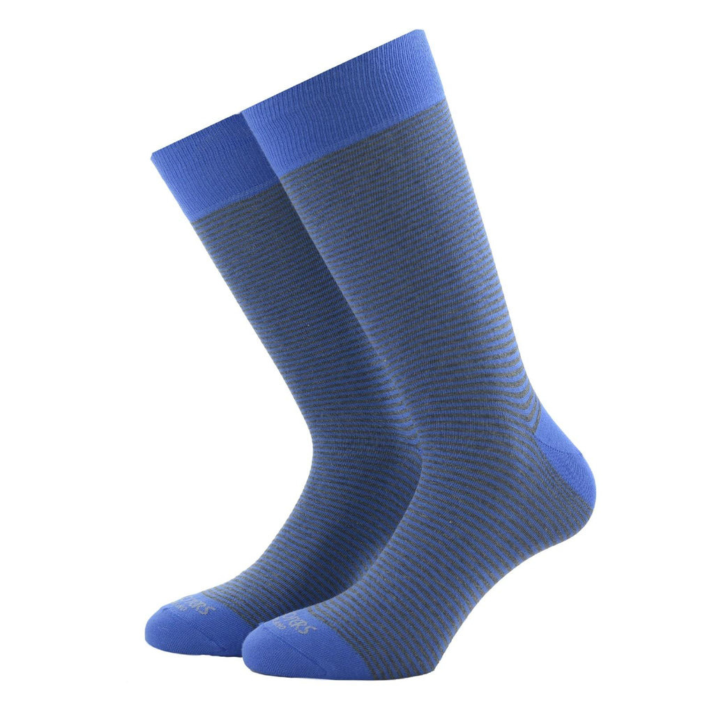 Light Blue Striped Socks - kloters