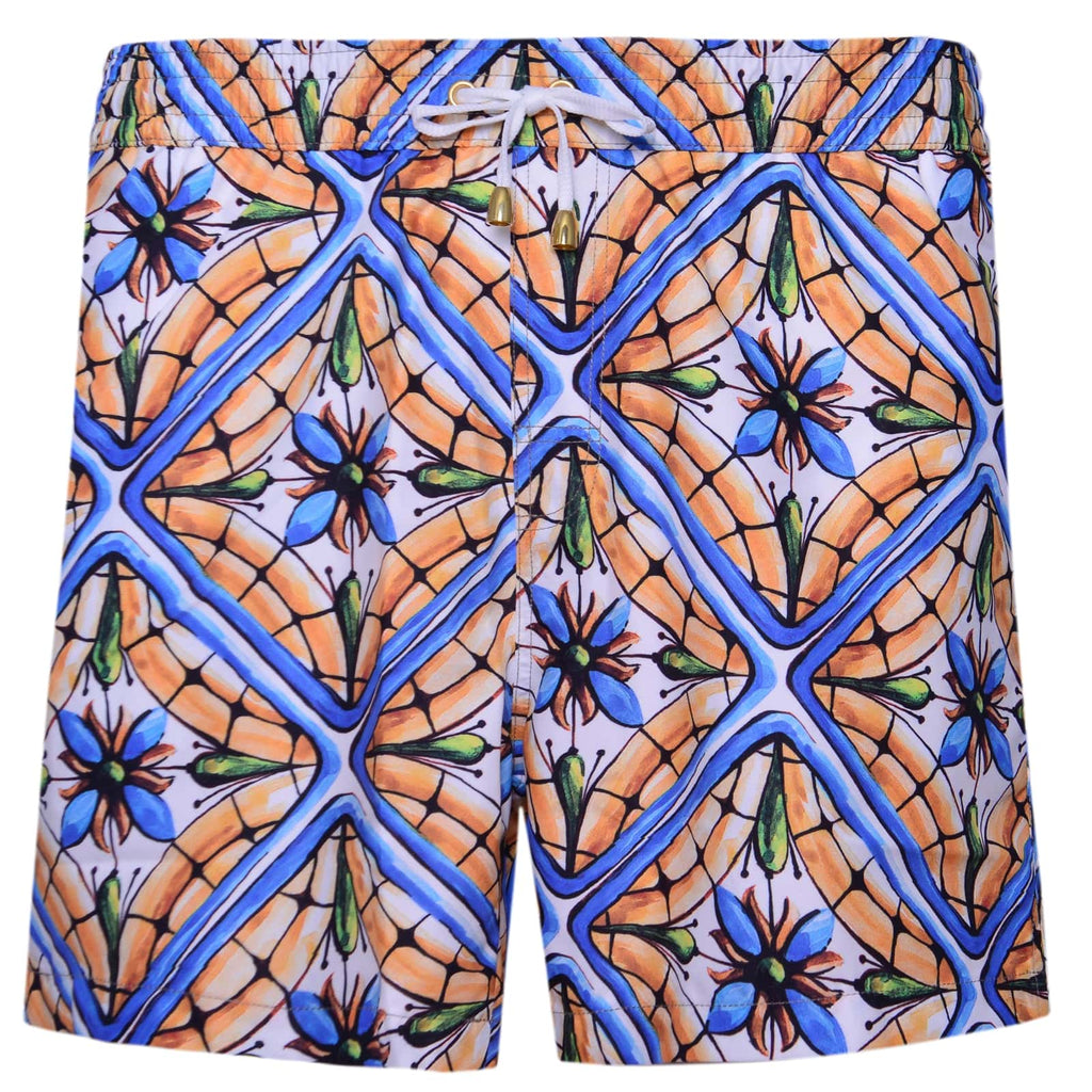 Flower Tile Swim Shorts - kloters
