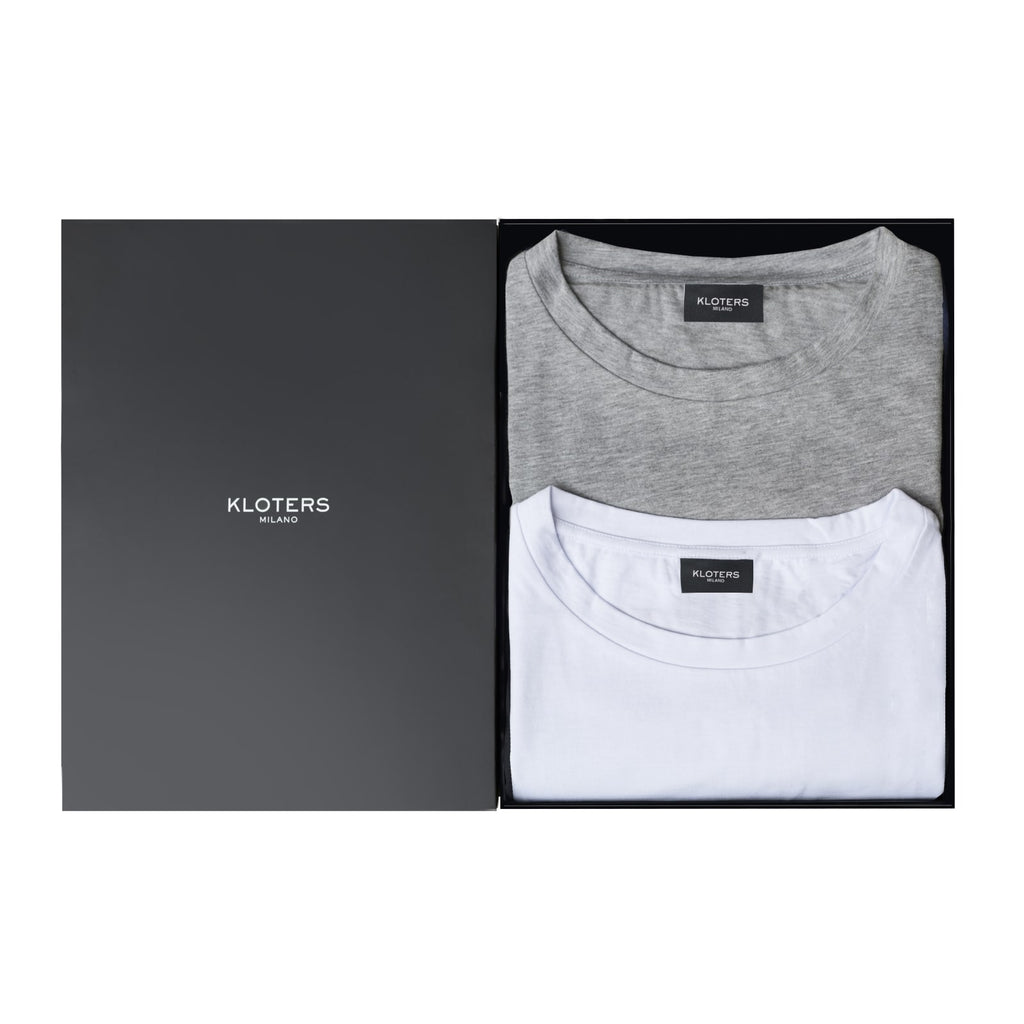 T-shirt Pack: White & Grey - kloters