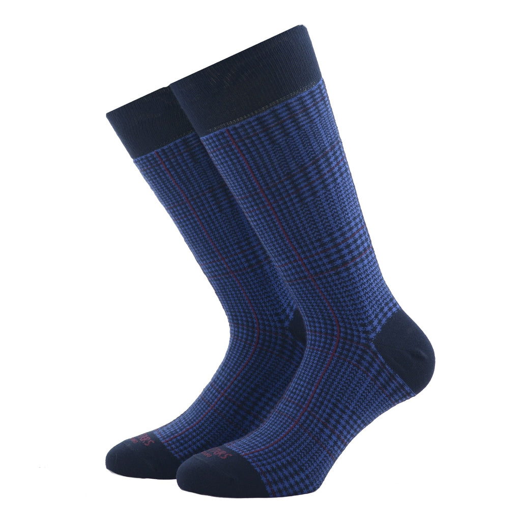 Red and Blue Glencheck Socks - kloters