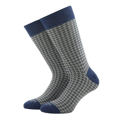 Dark Grey Houndstooth Socks - kloters