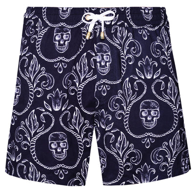 Skull Black Version Swim  Shorts - kloters
