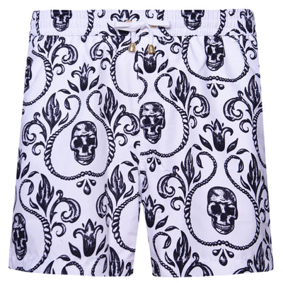 Skull White Version Swim Shorts - kloters