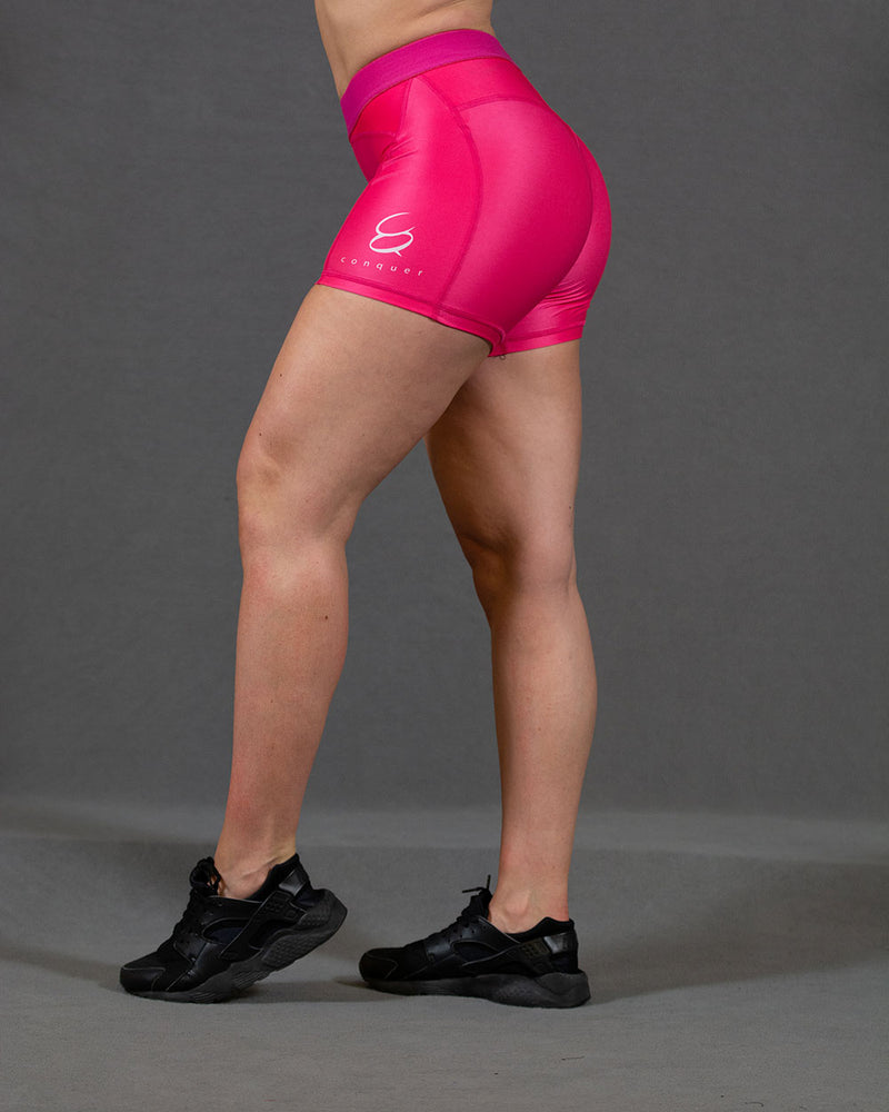 Conquer treningsshorts dame - Rosa