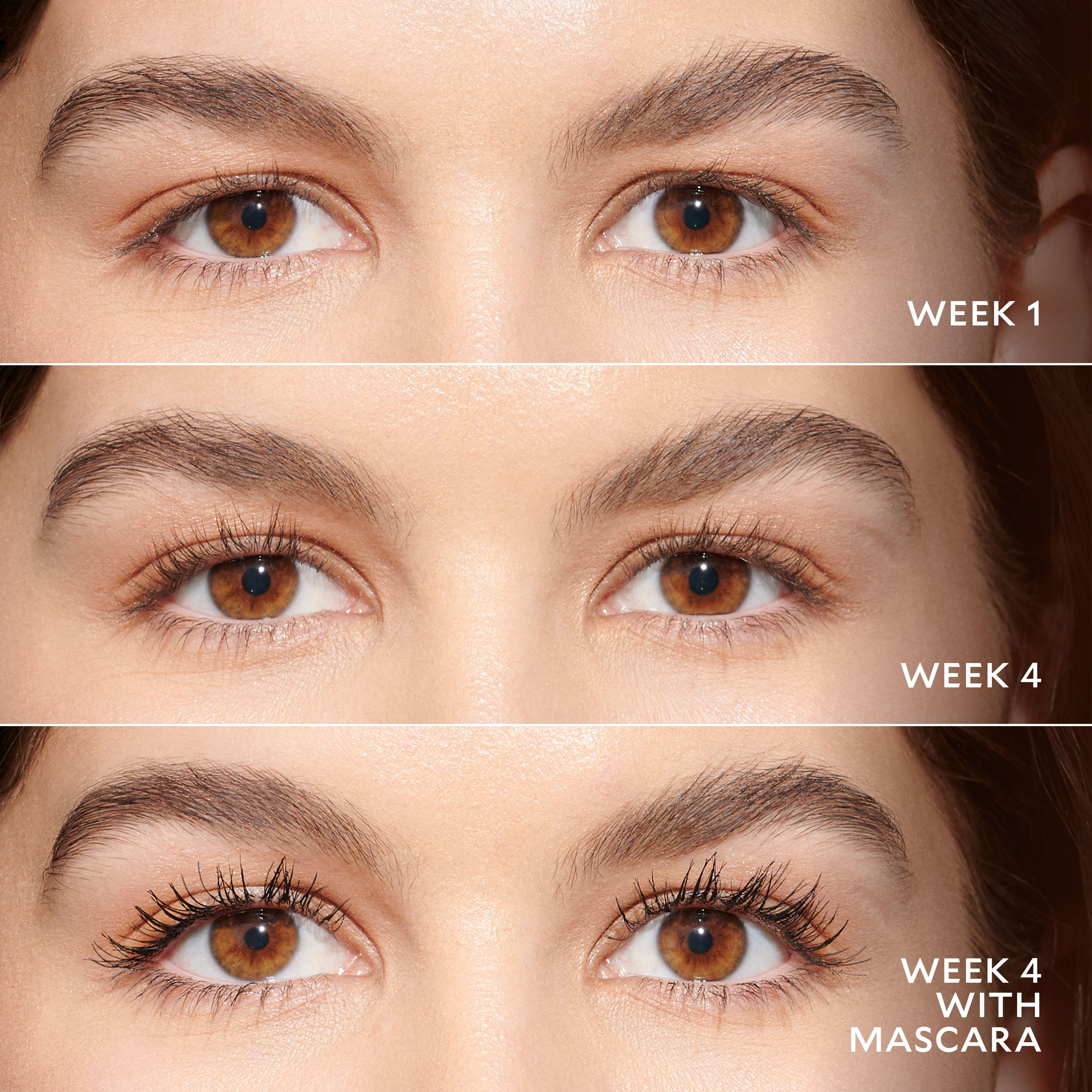 results of using mascara in 4 weeks
