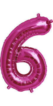 "34"" Pink Number 6 Balloon"