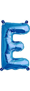 "16"" Blue Letter E Balloon"
