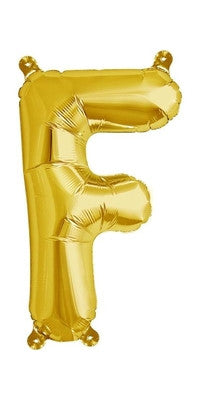 "16"" Gold Letter F Balloon"