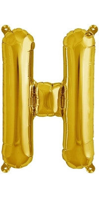 "16"" Gold Letter H Balloon"