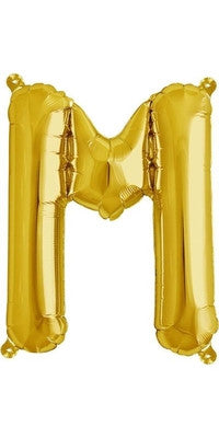 "16"" Gold Letter M Balloon"