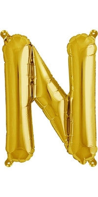 "16"" Gold Letter N Balloon"