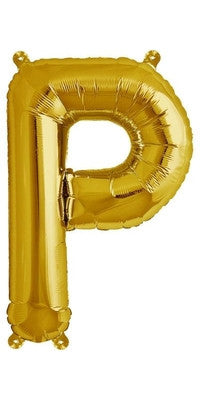 "16"" Gold Letter P Balloon"