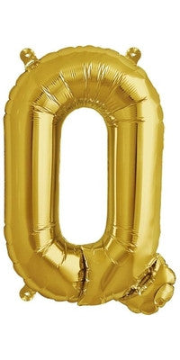 "16"" Gold Letter Q Balloon"