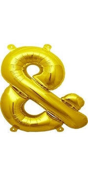 "16"" Gold Ampersand Balloon"