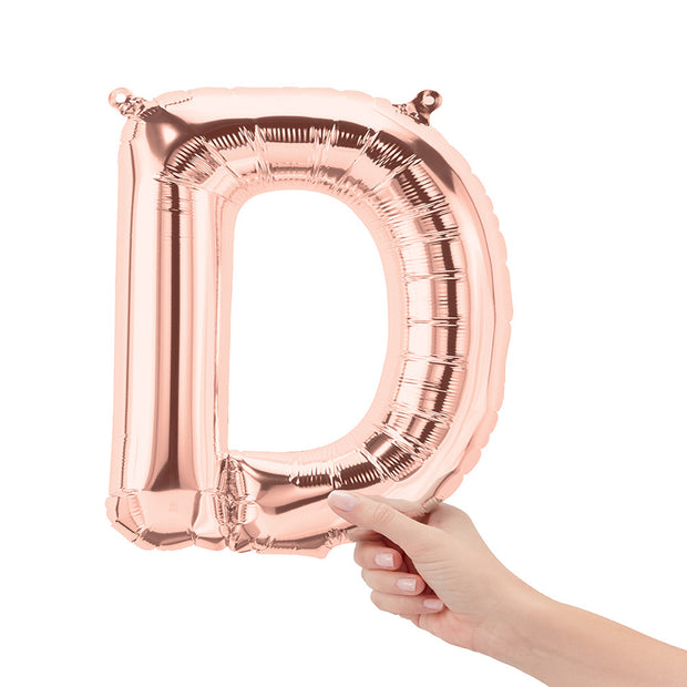 "16"" Rose Gold Letter D Balloon"