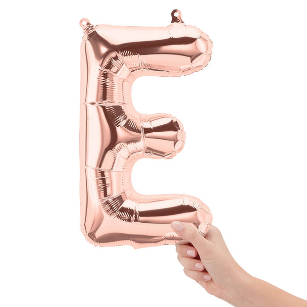 "16"" Rose Gold Letter E Balloon"