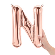 "16"" Rose Gold Letter N Balloon"
