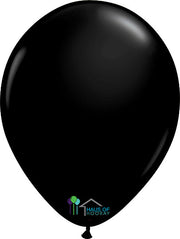 "11"" Black Round Latex"