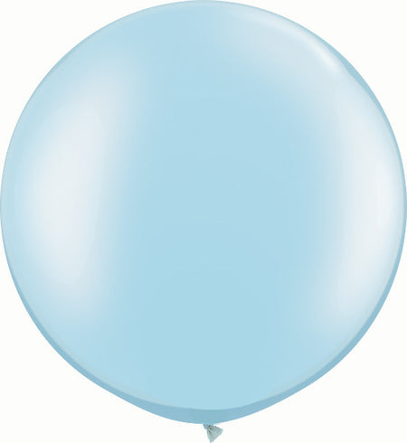 "30"" Pearl Light Blue Round"
