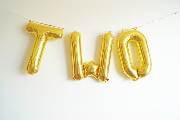 "16"" TWO letter balloons"