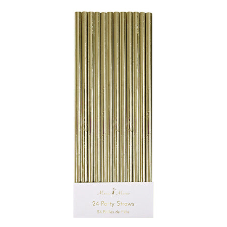 Gold Foil Party Straws