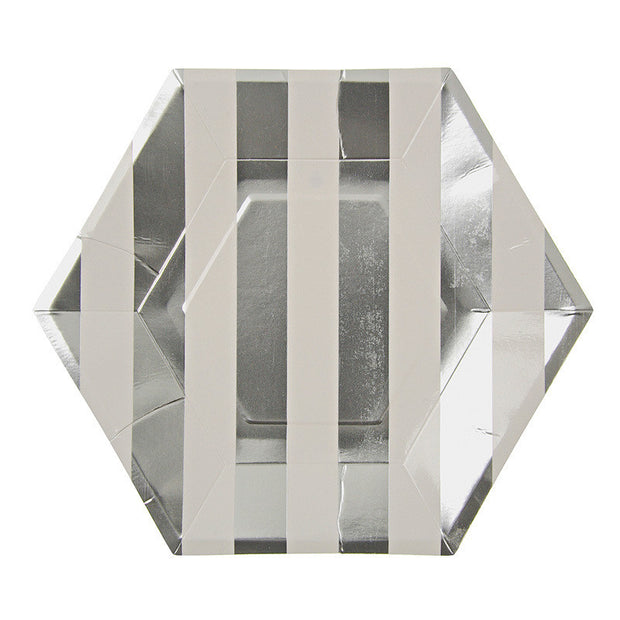 Toot Sweet Silver Hexagon Plate