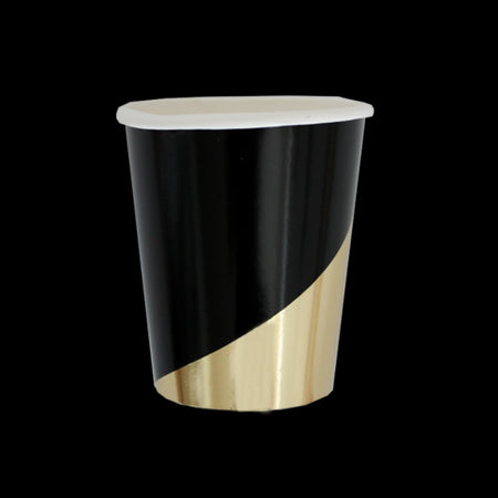 Black Colorblock Party Cups